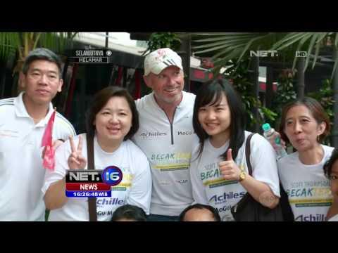 Aksi Sosial Scott dengan Mengayuh Becah dari Aceh ke Jakarta - NET16