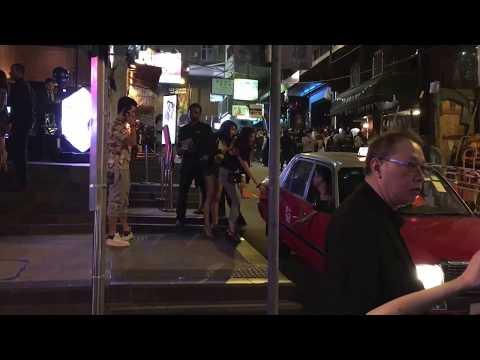 Touring Lan Kwai Fong Hongkong