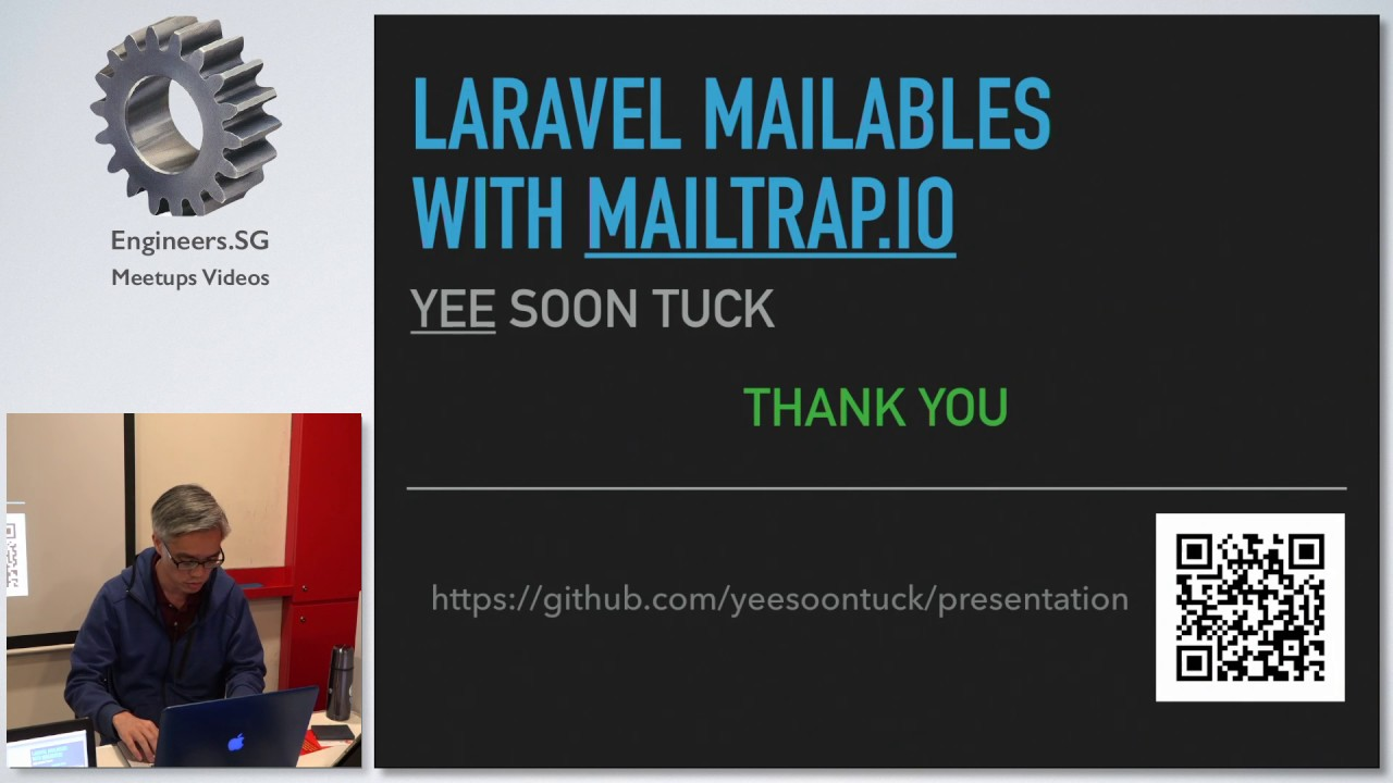 Laravel Mailables with MailTrap io - Singapore PHP User Group