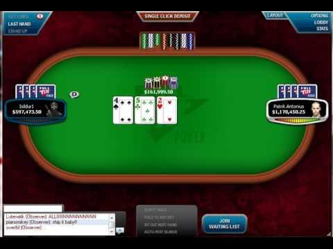Isildur1 and Antonius play $1.3 Million Pot (biggest in poker history) von YouTube · Dauer:  2 Minuten 11 Sekunden  · 432000+ Aufrufe · hochgeladen am 22/11/2009 · hochgeladen von Pawel Nazarewicz