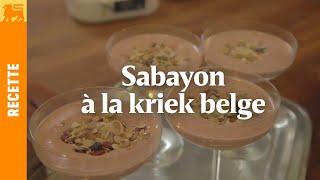 Sabayon à la kriek belge