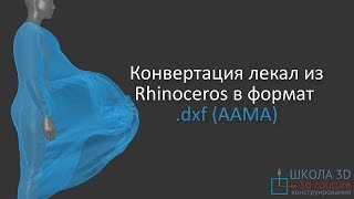 Конвертация лекал из Rhinoceros в формат  dxf AAMA