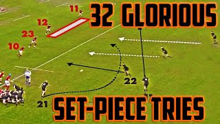 32 Glorious Set piece RUGBY tries