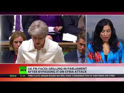\'Accountable to whims of Trump\': May faces grilling in Parliament after bypassing it on Syria attack