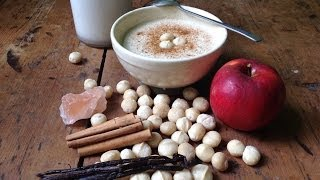 Apple Macadamia Coconut Porridge ~ Live Breakfast