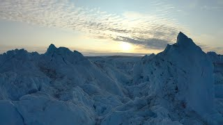 Watch: Drone captures video of melting Greenland glacier