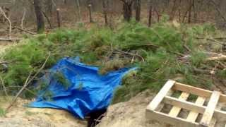 The Underground Homeless Hut / Fort / Shack / Shelter In The Woods