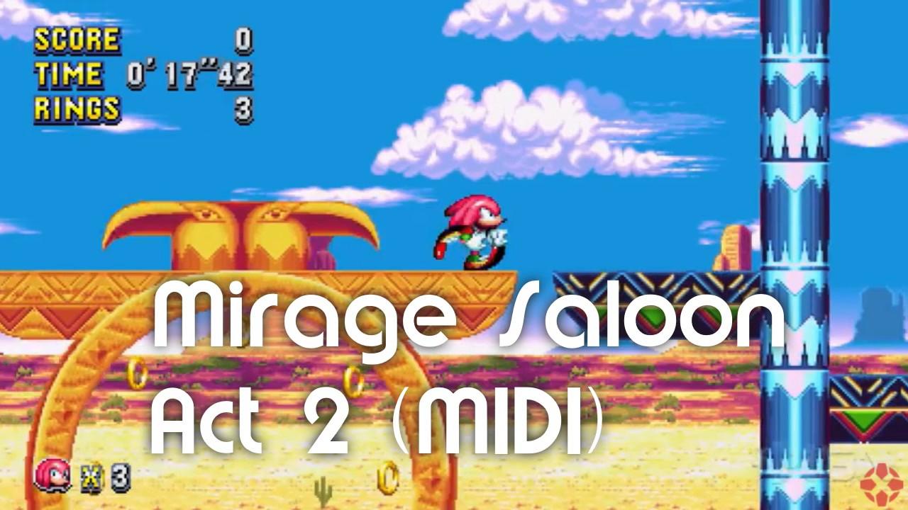 Sonic Mania - Mirage Saloon Act 2 (MIDI