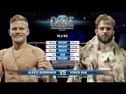 CAGE 30 Aleksi Nurminen vs Soren Bak (MMA)