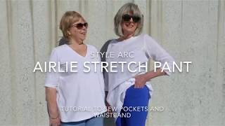 Airlie Stretch Pant by Style Arc - Sewing Tutorial for Sewing Pockets and Waistband