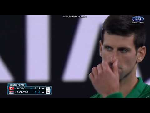 Djokovic vs Raonic Match Tiebreak 2020 Australian Open
