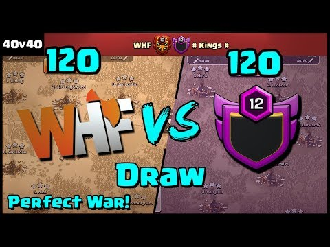 PERFECT WAR!?! A DRAW! WHF Vs # Kings # Recap | Clash Of Clans