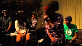 Ras Muhamad and Emily Laras jammin' with ReQuest - Waiting In Vain (acoustic cover)