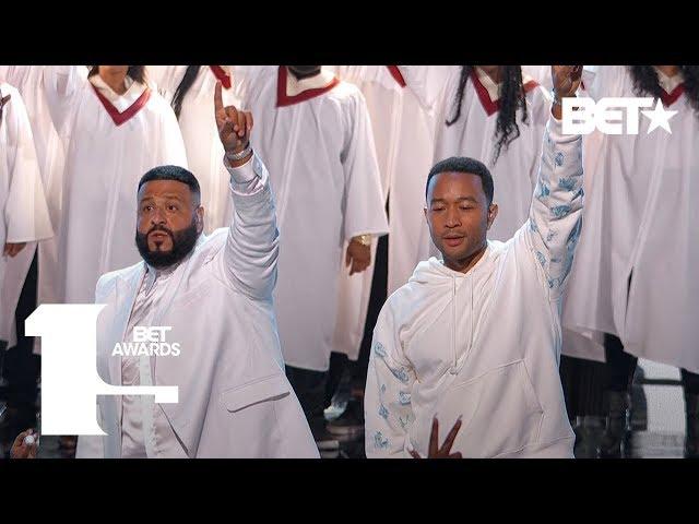 YG, DJ Khaled & Marsha Ambrosius & John Legend Perform Tribute to Nipsey Hussle   BET Awards 2019