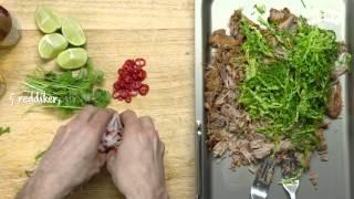 Slik Lager Du Pulled Pork Sandwich - Tex-mex Style