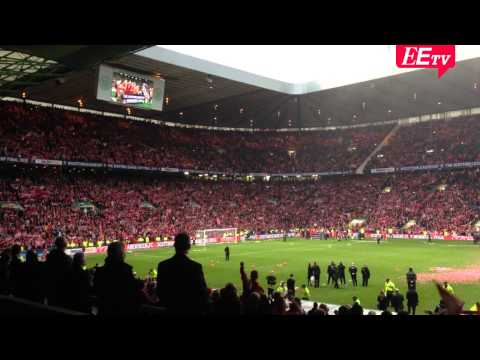 Ds fans sing Northern Lights of Old Aberdeen at Scottish League Cup final