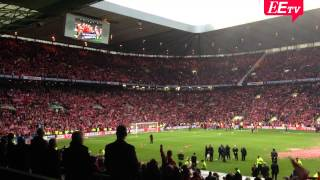 Dons fans sing Northern Lights of Old Aberdeen at Scottish League Cup final