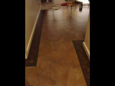 Diy concrete floor painting faux finish youtube for Painting a concrete floor