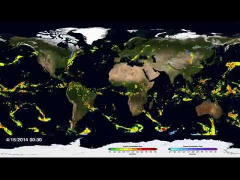 NASA | First Global Rainfall and Snowfall Map from New Mission
