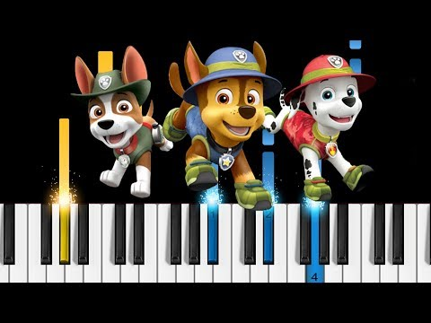 PAW Patrol Theme Song  EASY Piano Tutorial