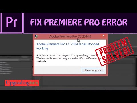 How to fix Adobe Premiere Pro CC has stopped working photoshop, after effects, audition