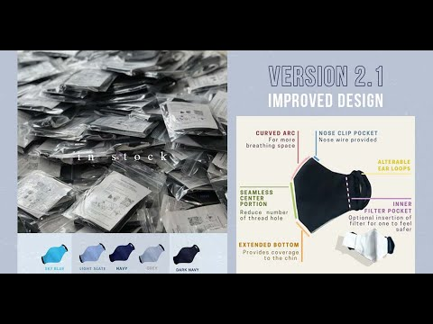 Fabric Mask Version 2.1 可清洗并重复使用