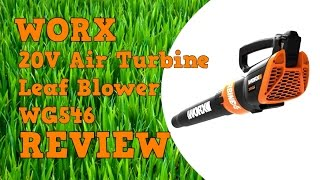 Worx 20V Air Turbine Leaf Blower WG546 Review
