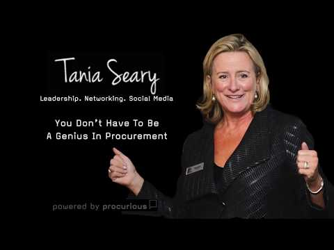 Tania Seary - You Don't Have To Be A Genius In Procurement