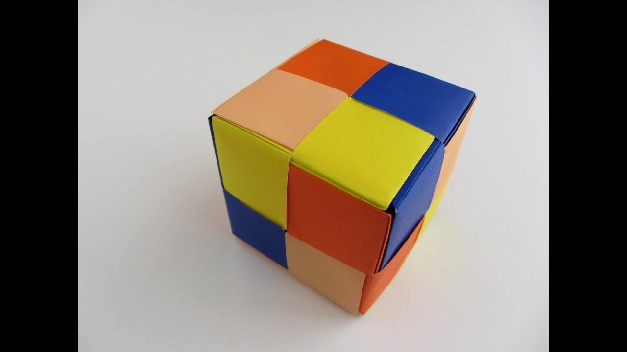 Origami Modular Sonobe Large Cube | Doovi - photo#43