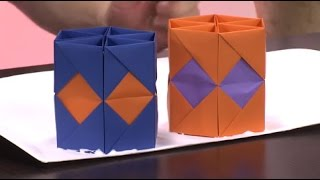 Como hacer un portalapiz en origami - Hogar Tv  por Juan Gonzalo Angel