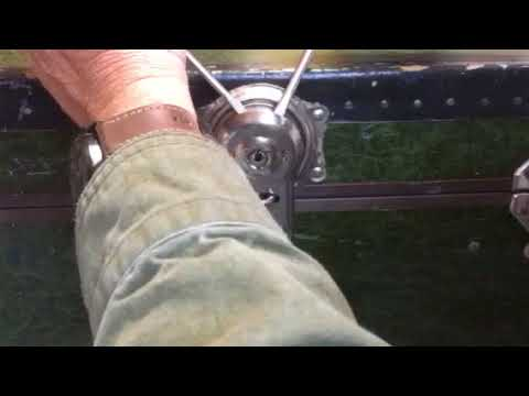 Opening a steamer trunk latch without a key