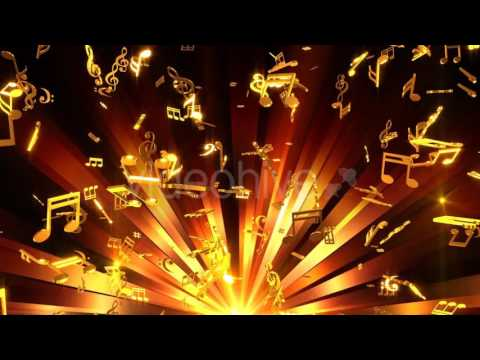 Musical Notes Background Motion Graphics