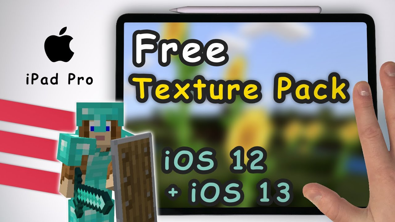 How to add Free Texture Packs in Minecraft for iOS 12 + iOS 12 on Apple  iPad Pro