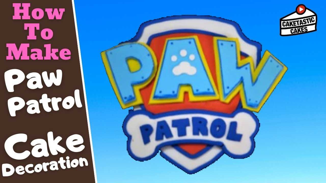 Caketastic Cakes How To Make A Paw Patrol Logo Shield Cake