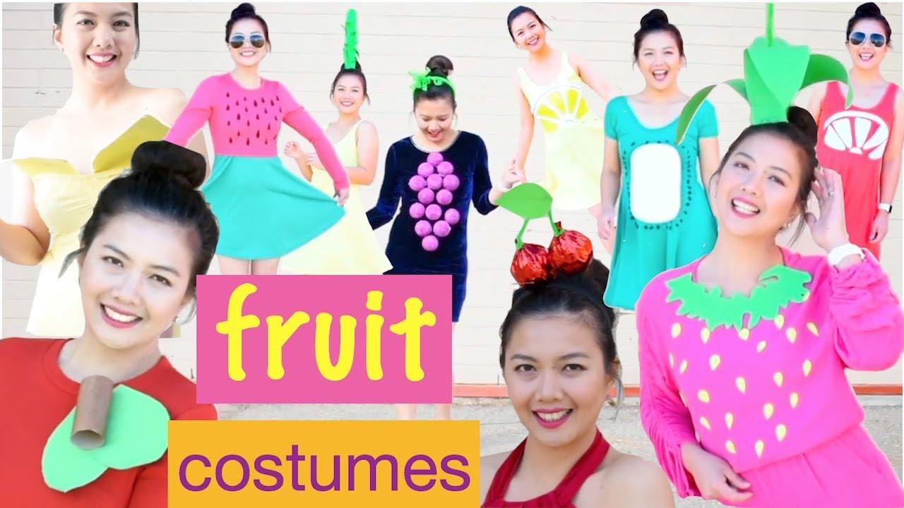 fa02d44a3f0b0f 10 DIY FRUIT HALLOWEEN COSTUME/SUPER LAST MINUTE/Quick,Easy,Affordable &  Fun Ideas/Fruit Family