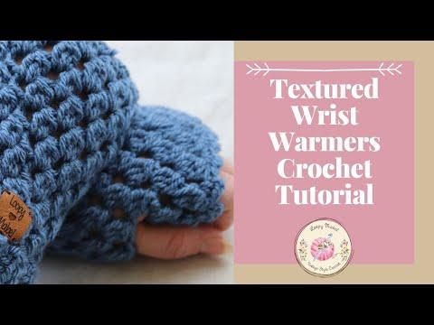 Beginner Crochet Fingerless Gloves - Easy Wrist Warmer Crochet Tutorial