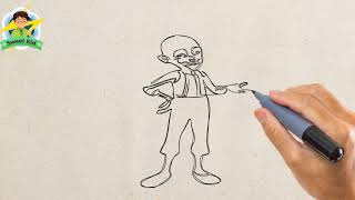 How To Draw Bald Boy a Turkish Fictional Character (Drawing Keloglan Turkish Boy)