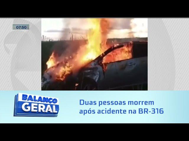 Tragédia: Duas pessoas morrem após acidente na BR-316, em Satuba