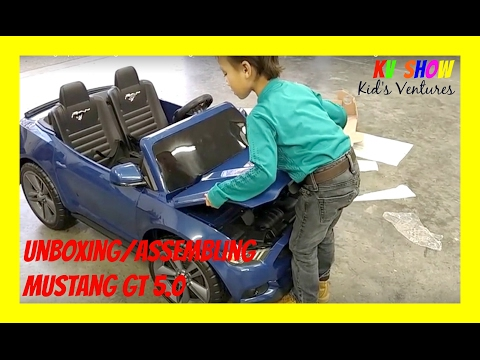 Picking Up, Unboxing And Assembling The Power Wheels Ride On Ford Mustang GT 5.0 12 Volt!