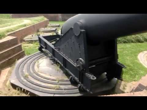 The Massive Rodman 1863 Guns of Fort McHenry. Francis Scott Key Star - Spangled Banner 1814