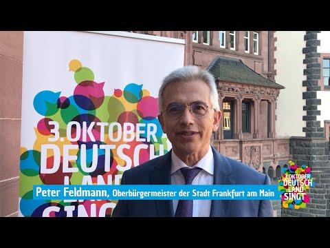 """Peter Feldmann unterstützt die Aktion """"3. Oktober - Deutschland singt"""""""