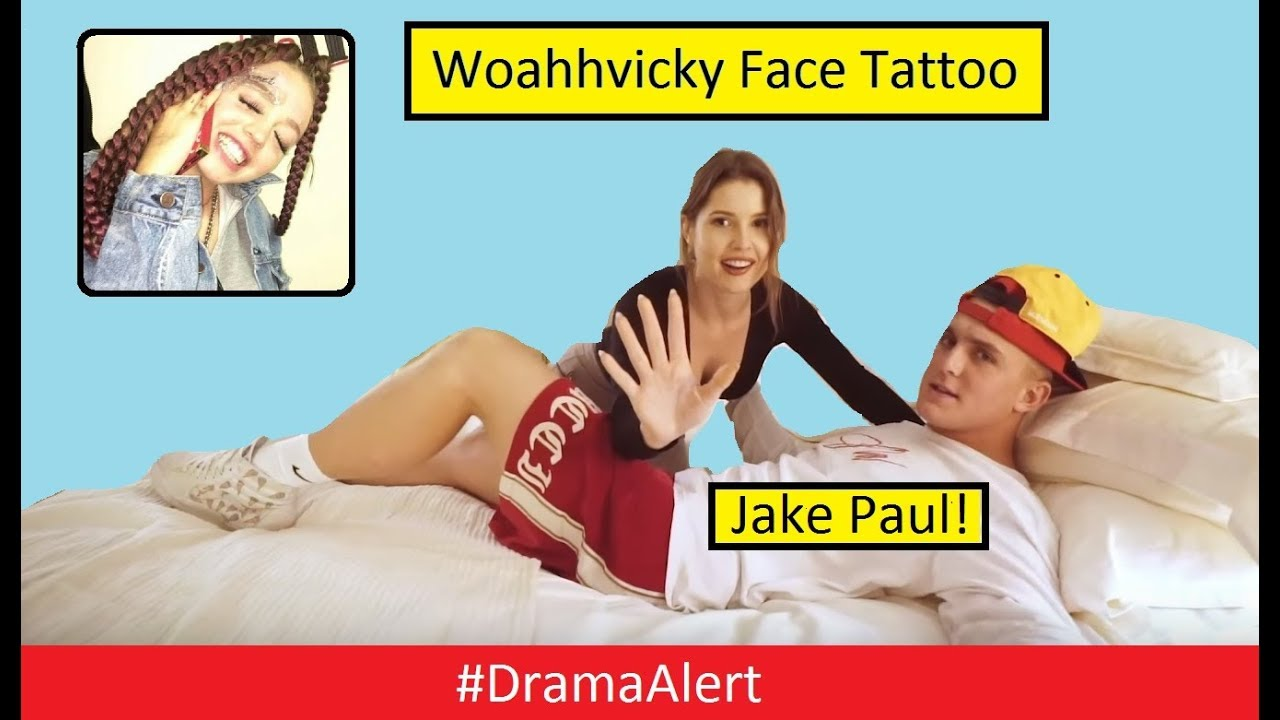 jake-paul-record-deal-dramaalert-woahhvicky-face-tattoo-dr-disrespect-face-reveal
