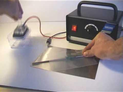 Electrolytic Metal Etching setup and marking demonstration