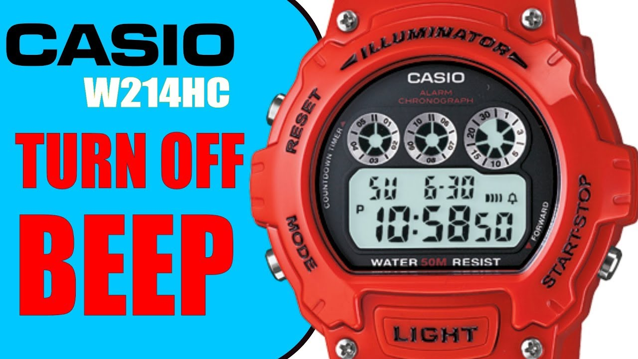 How to turn hourly BEEP chime & alarm off on Casio W214HC in 4K