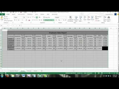 Excel 2013 Tutorial For Noobs Part 23: How to Select a Range of Cells & Cells in Multiple Worksheets