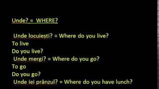 Engleza ABC incepatori WH Questions - Lectia 4