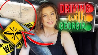 MY LITTLE SISTER CRASHED MY CAR... Driving With Georgia #3