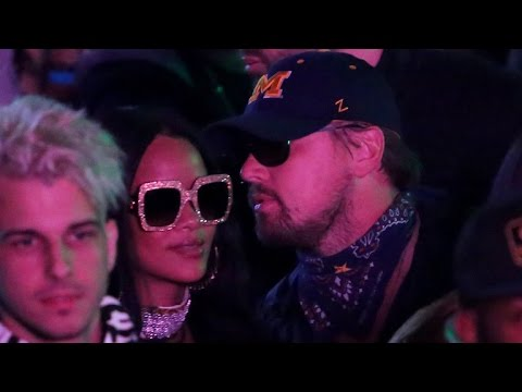 Rihanna All Smiles With Leonardo DiCaprio at Coachella's Neon Carnival -- See the Pics!
