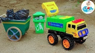 Toy garbage truck - Clear out rubbish in the city with an excavator - H1287I Baby Fish