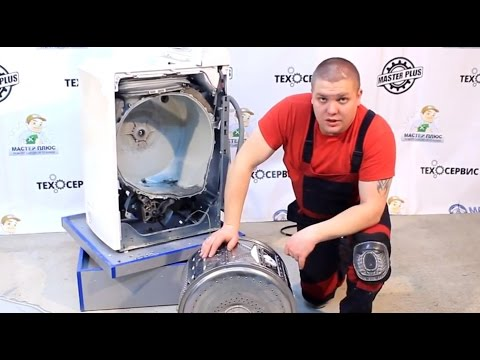 Замена фланцев барабана, подшипников в стиральной машине Whirlpool Часть 2